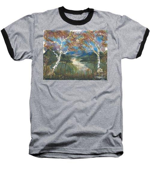 Birch Trees On The Ridge  Baseball T-Shirt