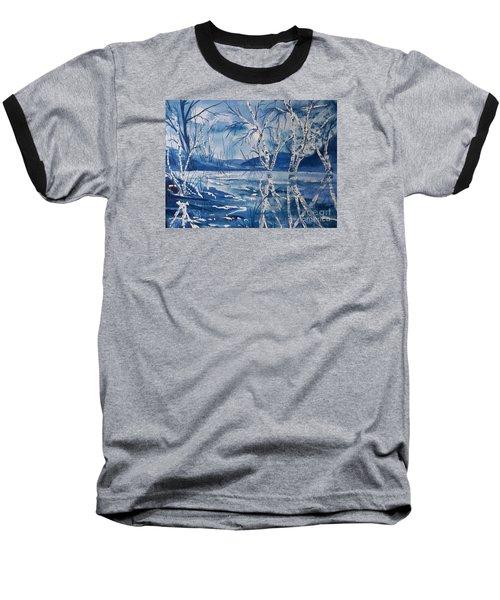Birches In Blue Baseball T-Shirt