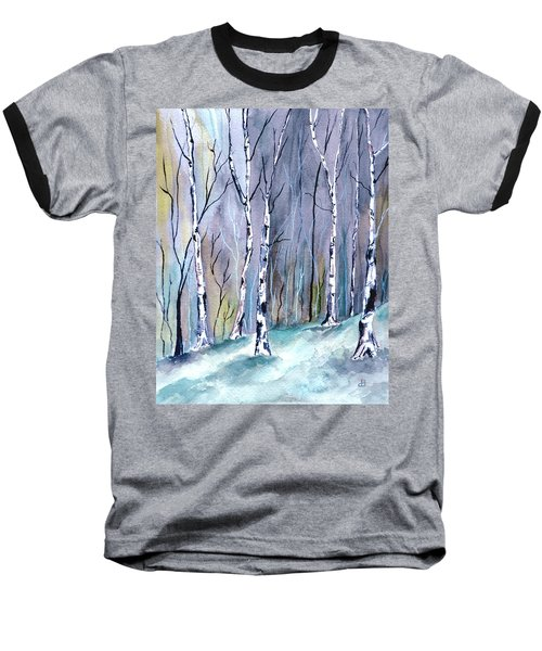 Birches In The Forest Baseball T-Shirt