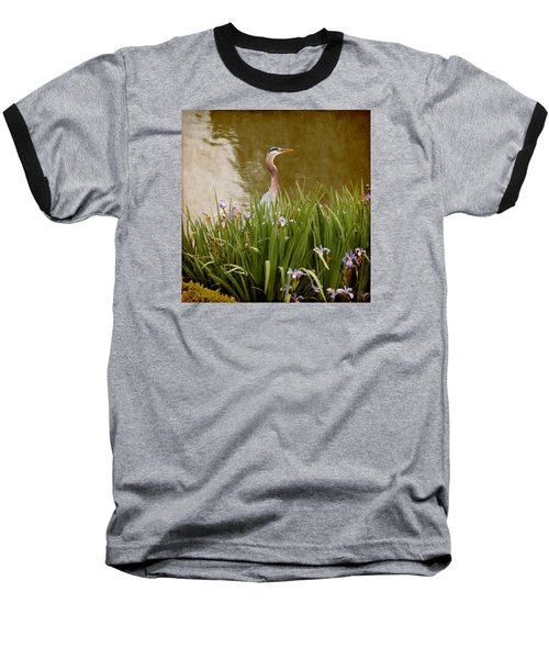 Baseball T-Shirt featuring the photograph Bird In The Water by Milena Ilieva