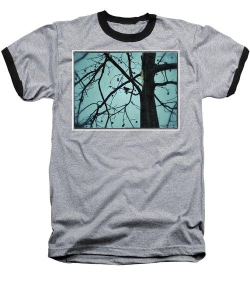 Baseball T-Shirt featuring the photograph Bird In Tree by Tara Potts