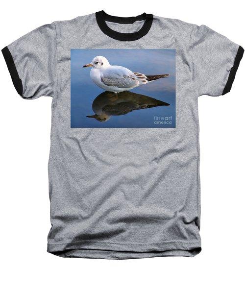 Bird Reflections Baseball T-Shirt by John Swartz