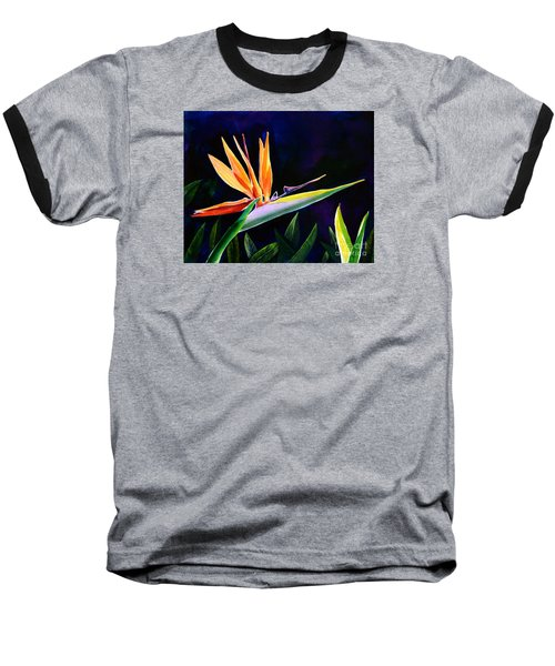 Baseball T-Shirt featuring the painting Bird Of Paradise by AnnaJo Vahle