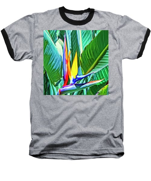Bird Of Paradise Baseball T-Shirt by Dominic Piperata