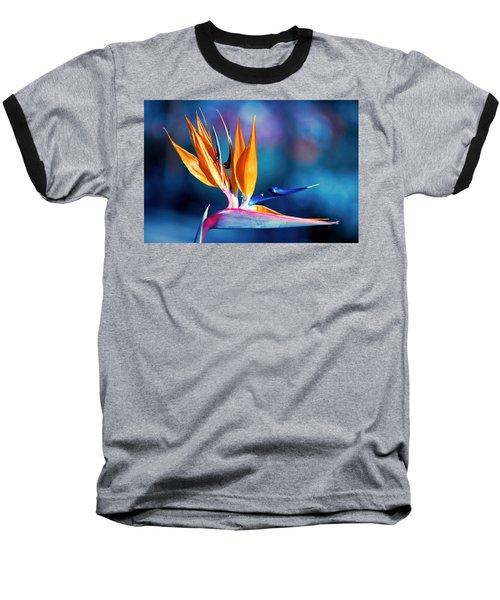 Bird Of Paradise Baseball T-Shirt by Gunter Nezhoda