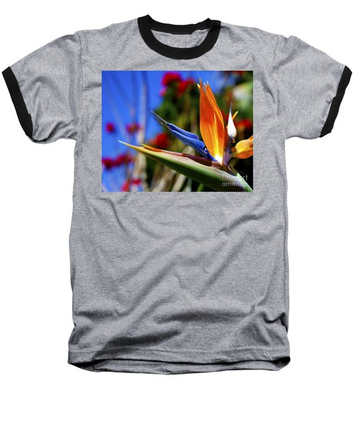 Baseball T-Shirt featuring the photograph Bird Of Paradise Open For All To See by Jerry Cowart