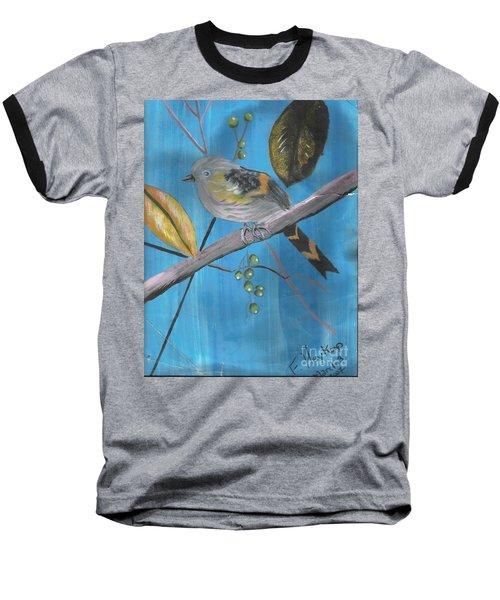 Bird On A Branch  Baseball T-Shirt by Francine Heykoop