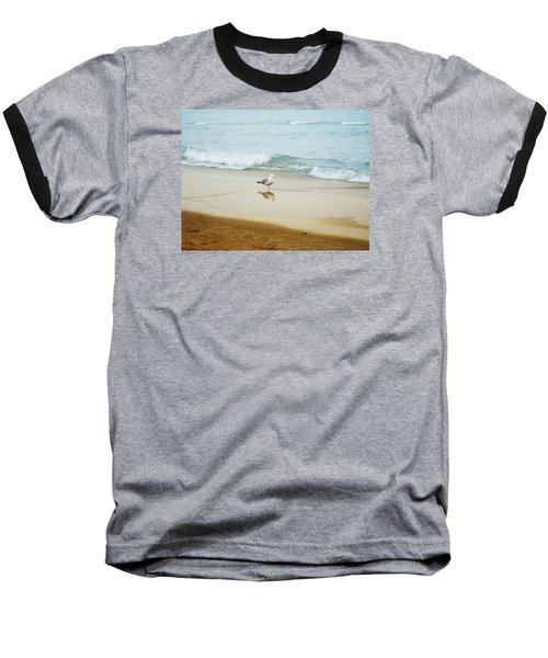 Bird On The Beach Baseball T-Shirt by Milena Ilieva