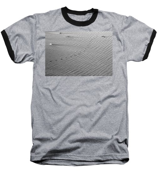 Bird Prints On Beach Baseball T-Shirt
