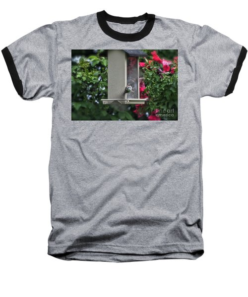 Baseball T-Shirt featuring the photograph Bird Time To Fly by Thomas Woolworth