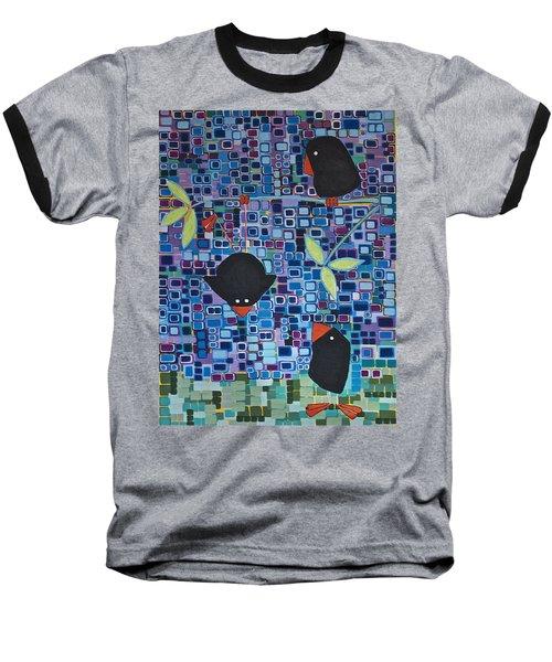 Bird Tricks Baseball T-Shirt