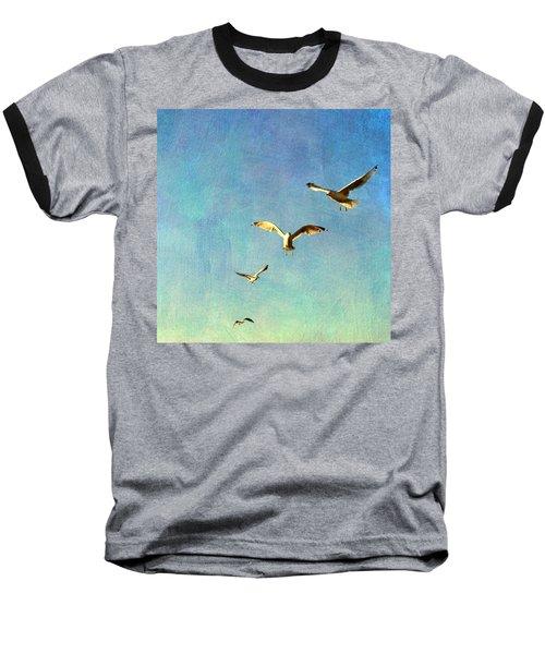 Birds Above Baseball T-Shirt