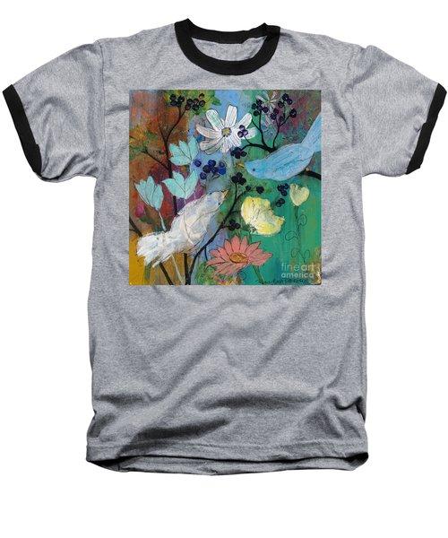 Birds And Berries Baseball T-Shirt