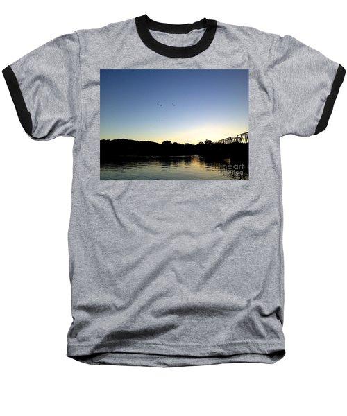 Birds And Blues Baseball T-Shirt
