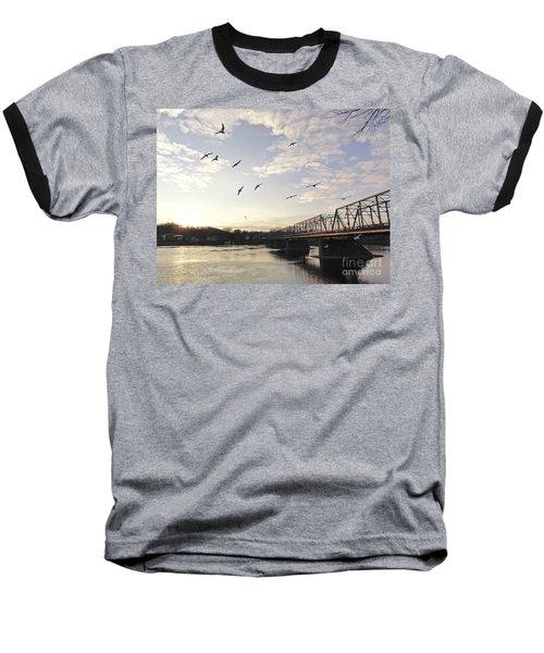 Birds And Bridges Baseball T-Shirt