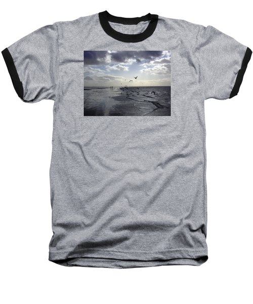 Birds At The Beach 2 Baseball T-Shirt