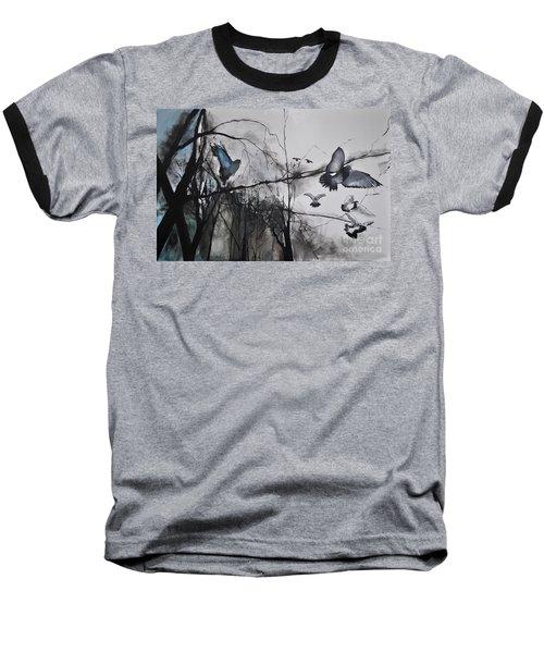 Birds Baseball T-Shirt by Maja Sokolowska