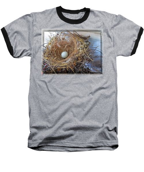 Baseball T-Shirt featuring the photograph Birds Nest - Perfect Home by Ella Kaye Dickey
