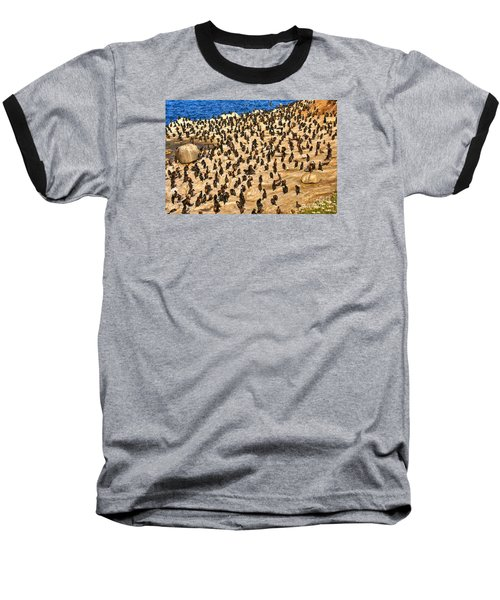 Baseball T-Shirt featuring the photograph Birds Of A Feather Stick Together by Jim Carrell
