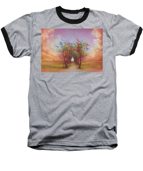Birds Of Rainbow Mist Baseball T-Shirt by Anna Ewa Miarczynska