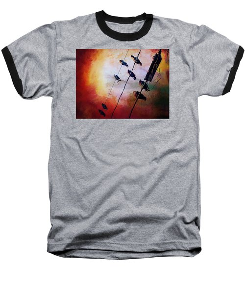 Birds On A Wire Baseball T-Shirt