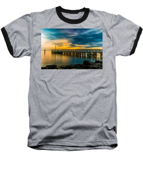 Birds On The Dock Baseball T-Shirt
