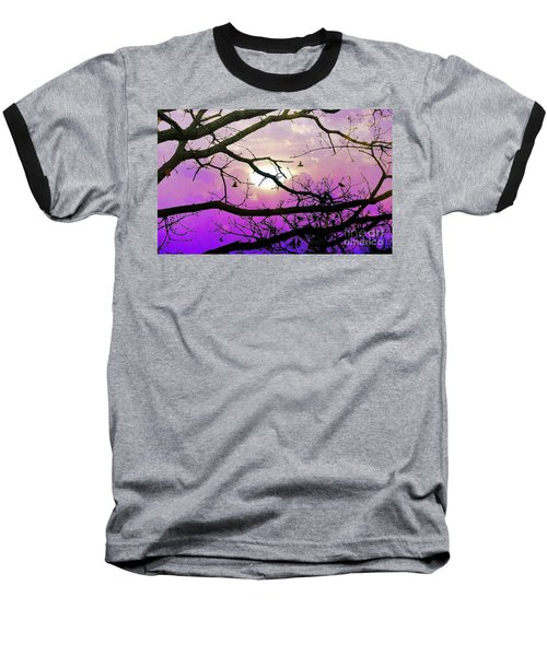 Birds Roosting For Night Baseball T-Shirt