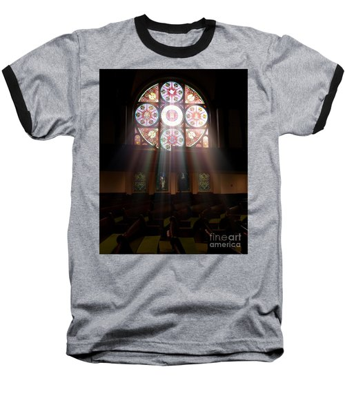 Birmingham Stained Glass Baseball T-Shirt
