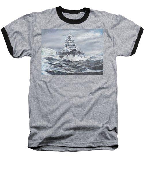 Bismarck Off Greenland Coast  Baseball T-Shirt by Vincent Alexander Booth