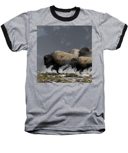 Bison Stampede Baseball T-Shirt