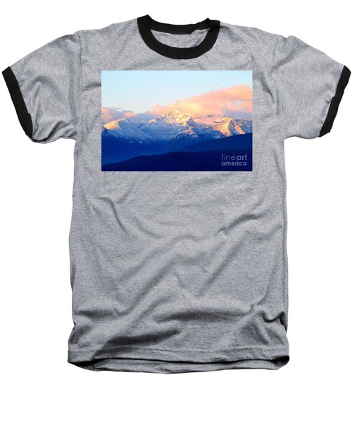 Bitterroot Mountains Montana Baseball T-Shirt
