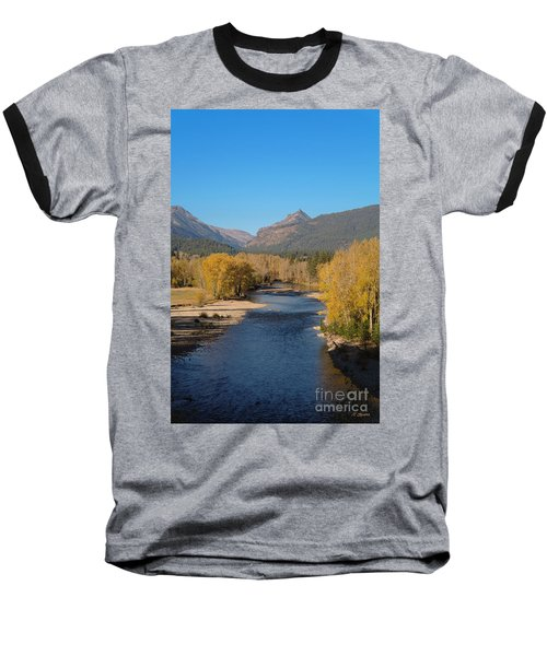 Baseball T-Shirt featuring the photograph Bitterroot River Fall by Joseph J Stevens