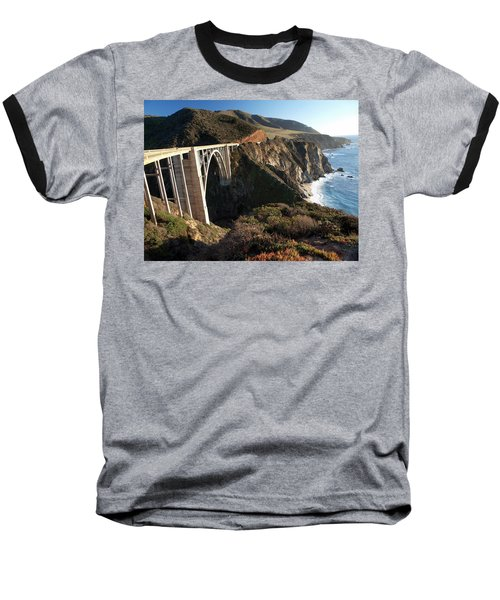Bixby Bridge Afternoon Baseball T-Shirt