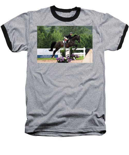 Black And Purple Baseball T-Shirt