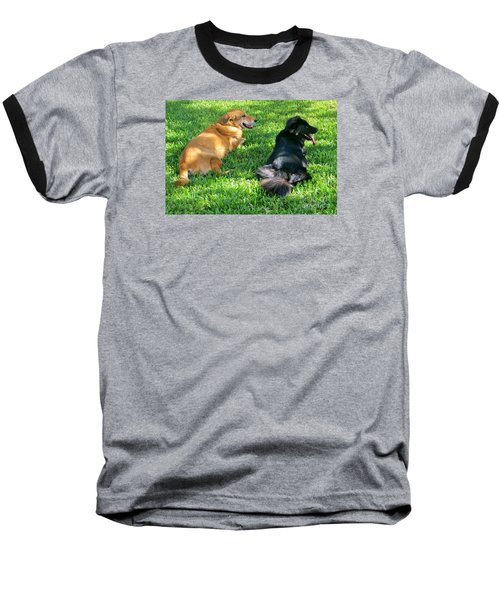 Baseball T-Shirt featuring the photograph Black And Tan by Joy Hardee