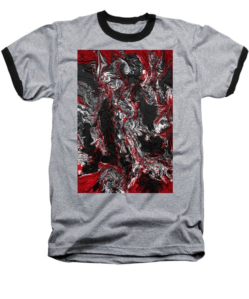 Black And White And Red All Over Baseball T-Shirt