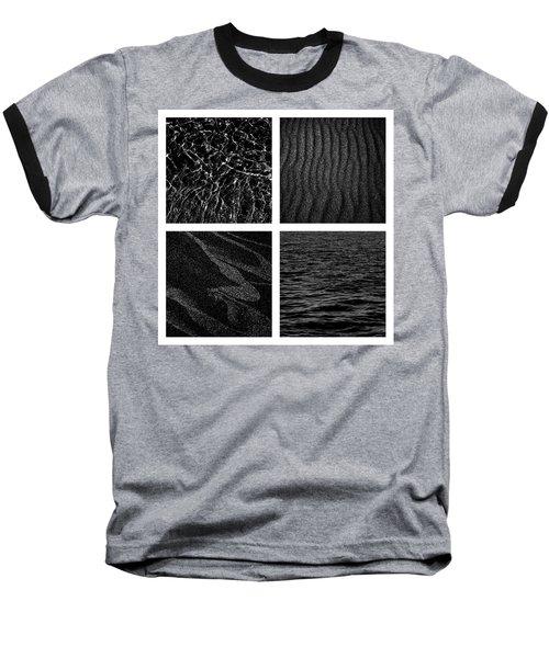 Black And White Beach Baseball T-Shirt