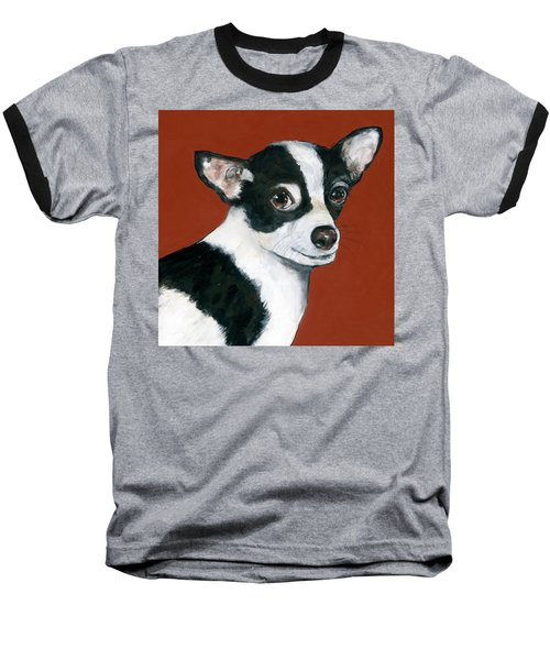 Black And White Chihuahua Baseball T-Shirt