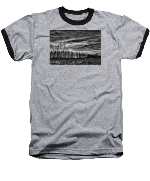 Black And White Grongarn Sky December 16 2014 Colouring The Clouds  Baseball T-Shirt