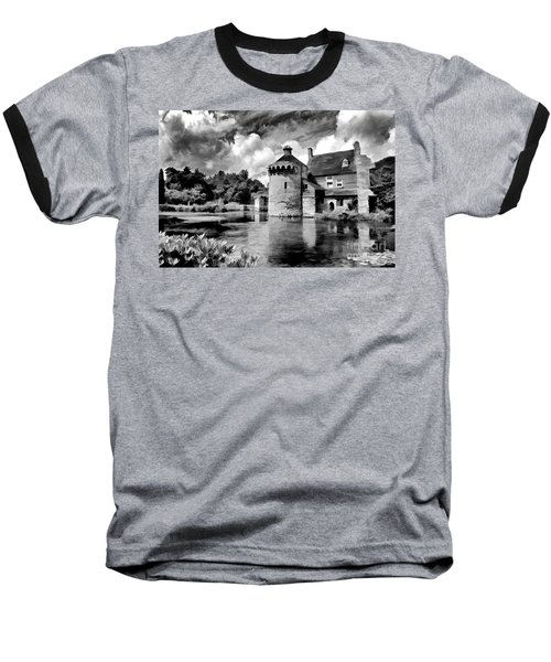 Scotney Castle In Mono Baseball T-Shirt