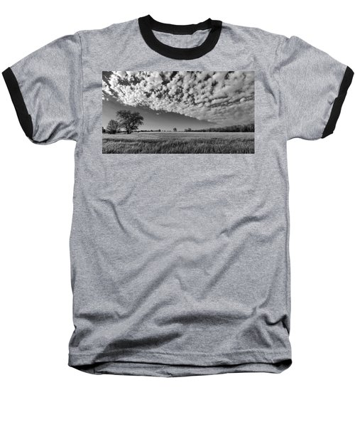 Black And White Wheat Field Baseball T-Shirt