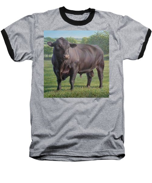Black Angus Bull 2 Baseball T-Shirt