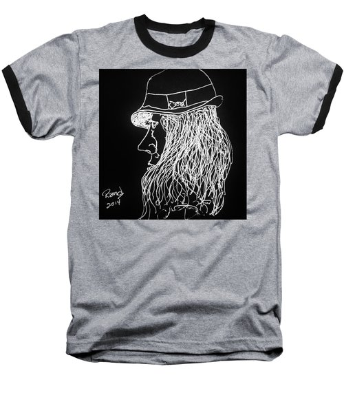 Baseball T-Shirt featuring the painting Black Book 06 by Rand Swift