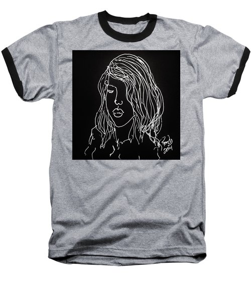Baseball T-Shirt featuring the drawing Black Book 07 by Rand Swift