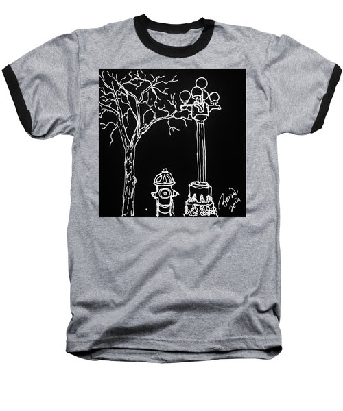 Baseball T-Shirt featuring the drawing Black Book 08 by Rand Swift