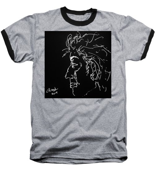 Baseball T-Shirt featuring the drawing Black Book 10 by Rand Swift