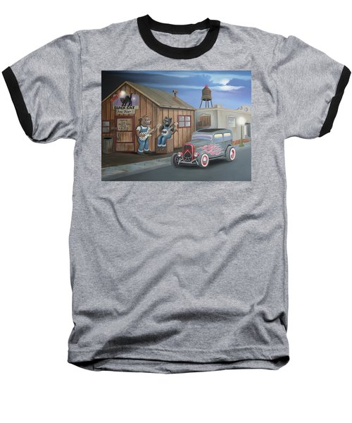 Black Cat Juke Joint Baseball T-Shirt