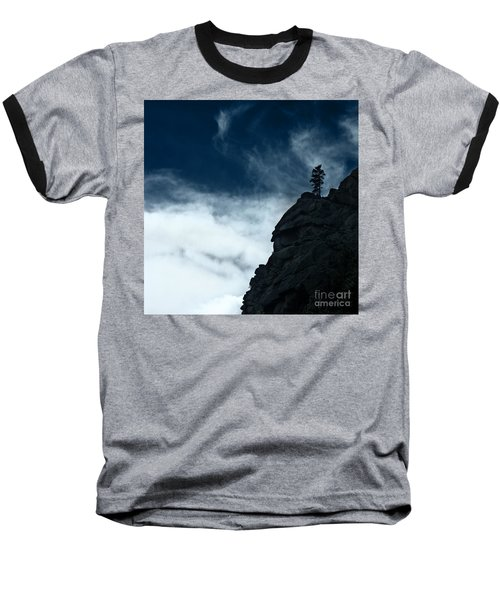 Baseball T-Shirt featuring the photograph Black Cliff by Dana DiPasquale