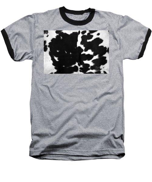 Baseball T-Shirt featuring the photograph Black Cowhide by Gunter Nezhoda