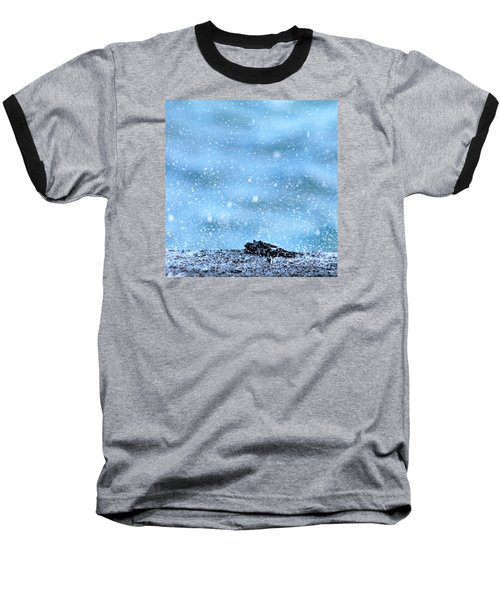 Baseball T-Shirt featuring the photograph Black Crab In The Blue Ocean Spray by Lehua Pekelo-Stearns